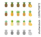 pineapple icon. tropical fruit. ... | Shutterstock .eps vector #1309670872