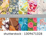 collection of seamless patterns.... | Shutterstock .eps vector #1309671328