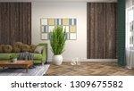 interior of the living room. 3d ... | Shutterstock . vector #1309675582