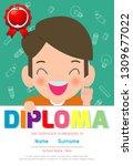 certificates kindergarten and... | Shutterstock .eps vector #1309677022