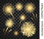 yellow festival fireworks.... | Shutterstock .eps vector #1309679665