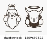 good and bad  god and devil... | Shutterstock .eps vector #1309693522