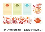 hand drawn recipes. vector.... | Shutterstock .eps vector #1309695262