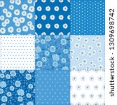 patchwork background with...   Shutterstock .eps vector #1309698742