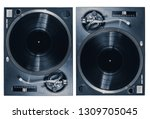 set of two professional dj... | Shutterstock . vector #1309705045