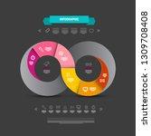infinity symbol infographics....   Shutterstock .eps vector #1309708408