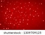 red glitter vintage lights... | Shutterstock . vector #1309709125