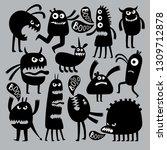 abstract kids fear monster... | Shutterstock .eps vector #1309712878