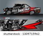 truck wrap design. simple lines ... | Shutterstock .eps vector #1309715962