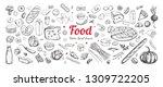 big vector set of healthy food...   Shutterstock .eps vector #1309722205