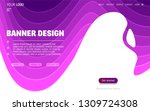 fluid colorful shapes website... | Shutterstock .eps vector #1309724308