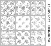 set of seamless floral patterns   Shutterstock .eps vector #1309725475