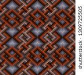 knitted seamless ornate pattern ... | Shutterstock .eps vector #1309725505