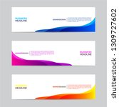 abstract web banner collection. ... | Shutterstock .eps vector #1309727602