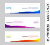 abstract web banner collection. ... | Shutterstock .eps vector #1309727605
