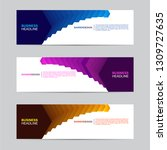 corporate banner collection... | Shutterstock .eps vector #1309727635