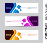 abstract web banner collection. ... | Shutterstock .eps vector #1309727638