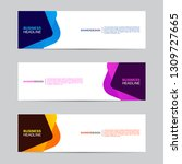 abstract web banner collection. ... | Shutterstock .eps vector #1309727665