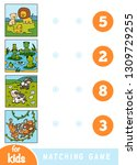 matching education game for... | Shutterstock .eps vector #1309729255