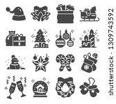 christmas related icons....   Shutterstock .eps vector #1309743592
