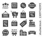 set of black friday icons....   Shutterstock .eps vector #1309743595