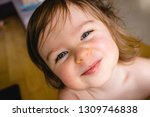 happy smile and laugh of a... | Shutterstock . vector #1309746838