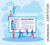 vector illustration. hiring and ...