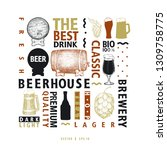 typographic vector beer design... | Shutterstock .eps vector #1309758775