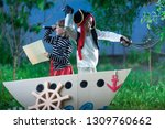 children play pirates at... | Shutterstock . vector #1309760662