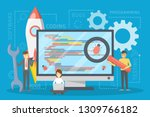 testing software concept.... | Shutterstock .eps vector #1309766182