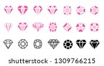 abstract pink diamond... | Shutterstock .eps vector #1309766215