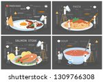 small people in chef uniform... | Shutterstock .eps vector #1309766308