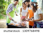 group of friends having a... | Shutterstock . vector #1309768498