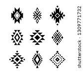 aztec  tribal shapes  symbols... | Shutterstock .eps vector #1309771732