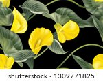 traditional floral pattern with ... | Shutterstock .eps vector #1309771825