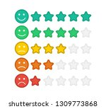 emoji with star rating.... | Shutterstock .eps vector #1309773868