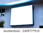 billboard mockup and template... | Shutterstock . vector #1309777915