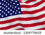 united states flag close up... | Shutterstock . vector #1309778635