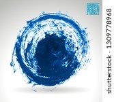 blue brush stroke and texture.... | Shutterstock .eps vector #1309778968