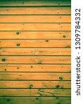wooden painted rustic texture... | Shutterstock . vector #1309784332