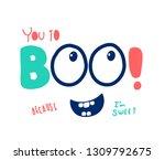 hand drawing monster...   Shutterstock .eps vector #1309792675