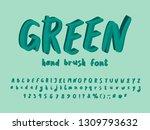 modern alphabet paint design.... | Shutterstock .eps vector #1309793632