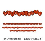 greeting alphabet with hand... | Shutterstock .eps vector #1309793635
