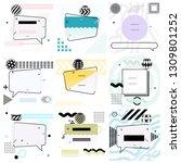 set of trendy abstract... | Shutterstock .eps vector #1309801252