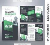 business brochure template in... | Shutterstock .eps vector #1309802008