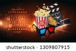 advertising for the film... | Shutterstock .eps vector #1309807915