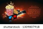 advertising for the film... | Shutterstock .eps vector #1309807918