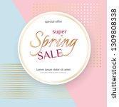 poster spring sale elegant... | Shutterstock .eps vector #1309808338