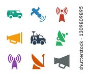 broadcasting icons. trendy 9... | Shutterstock .eps vector #1309809895