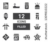 filled icon set. collection of... | Shutterstock .eps vector #1309810222
